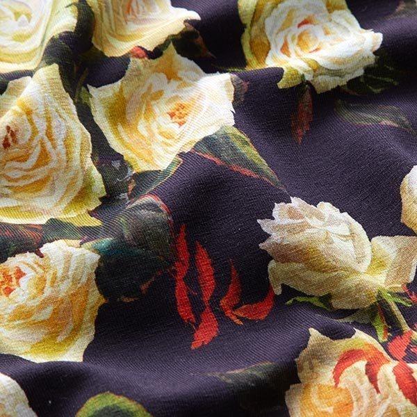 Jersey coton roses opulentes