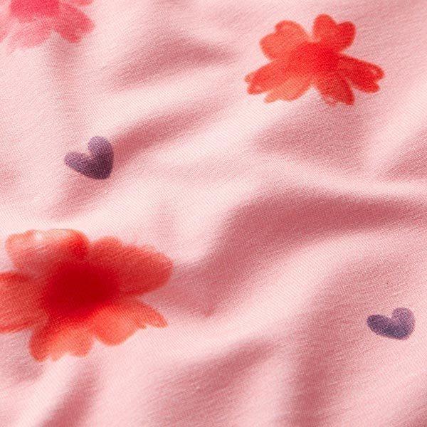 Tula jersey coton GOTS fleurs