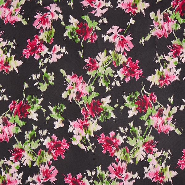 tissu viscose chiffon fleurs