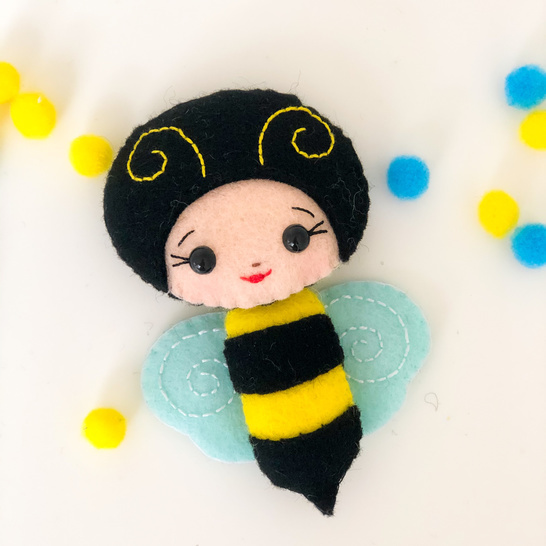 Bee and beehive PDF SVG felt pattern