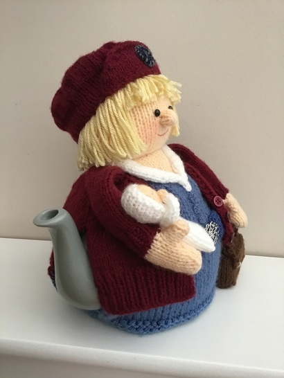 Midwife tea cosy to fit a 6 cup teapot. Molly the midwife