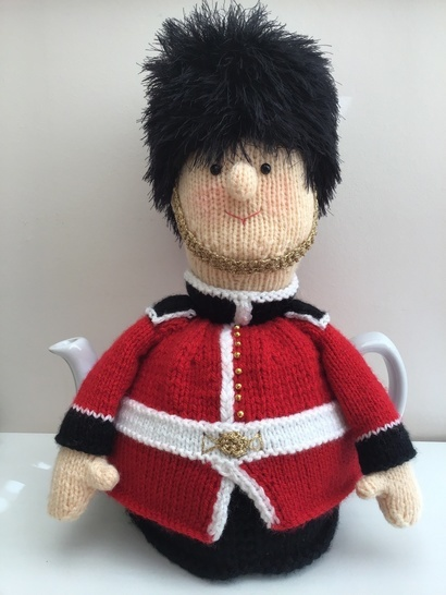 Gerald the Grenadier Guard tea cosy to fit a 6 cup teapot.