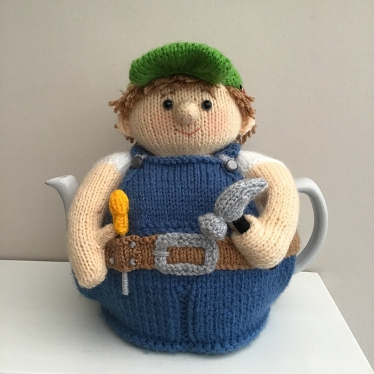 Billy odd job tea cosy to fit a 6 cup teapot