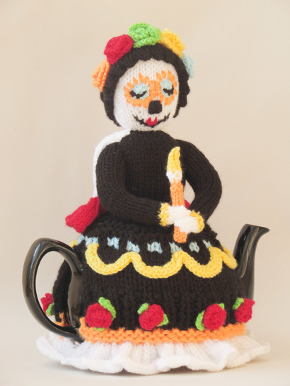 Day of the Dead Tea Cosy Knitting Pattern