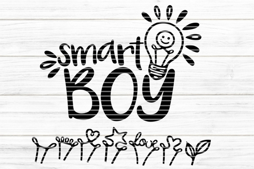 """File """"smart Boy"""" Ironing-picture SVG DXF"""