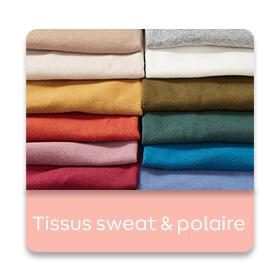 Layering - Tissus sweat et polaire
