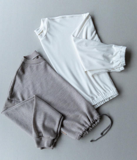 Pullover Set: cropped Sweater & Hoodie Gr. 34-54