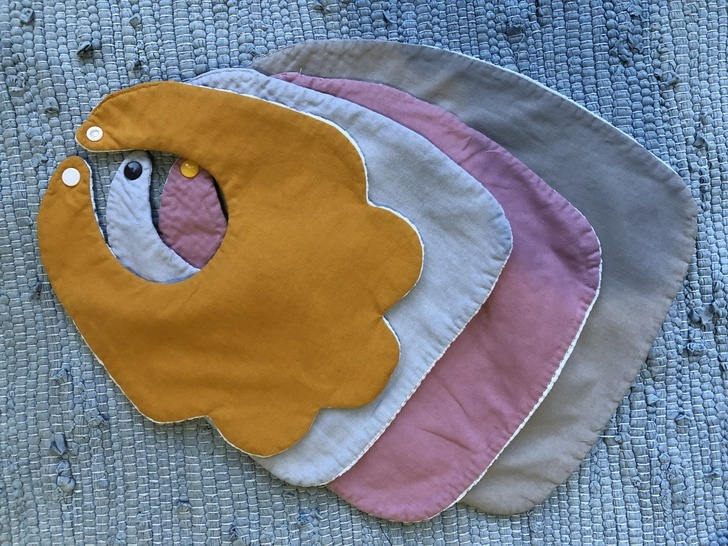 Baby Bib dribble Set Sewing Pattern with Photo tutorial.