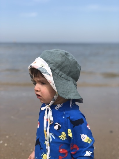Reversible Bucket Hat Sewing Pattern for Kids & Adults
