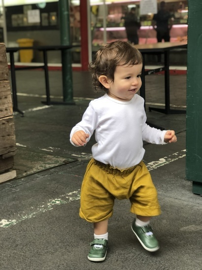 Unisex, Linen Pants Shorts Kids Sewing Pattern, 0 to 5 years