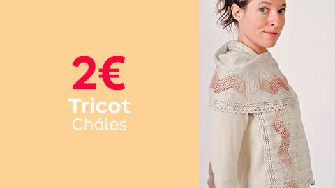 Tutos tricot châles à 2€