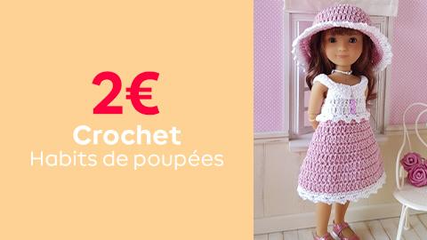 Tutos crochet habits de poupées à 2€