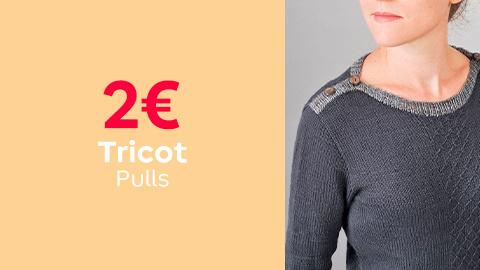 Tutos tricot pulls à 2€