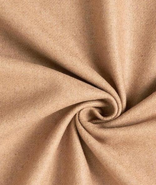 Tissu lainage marron clair