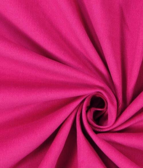 Tissu velours côtelé rose