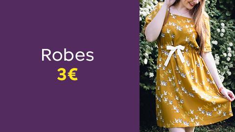 Patrons de robes à 3€