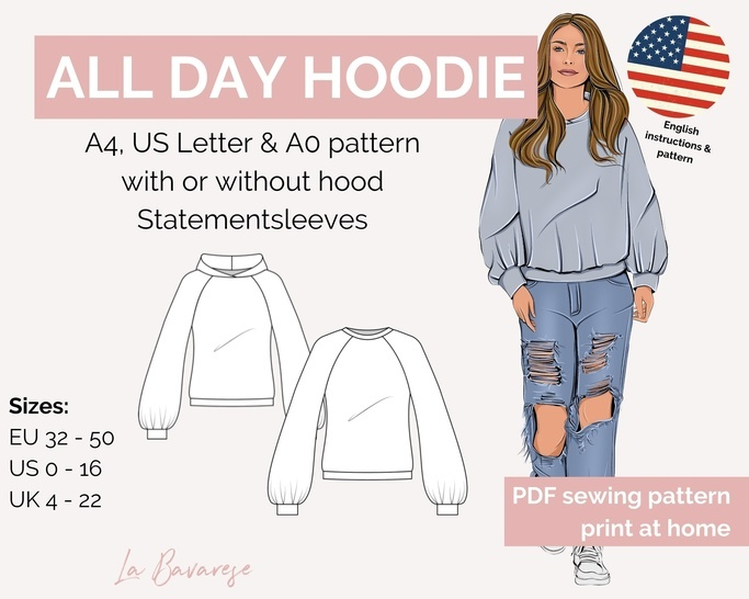 Allday Hoodie, Sweater, size 32 - 50