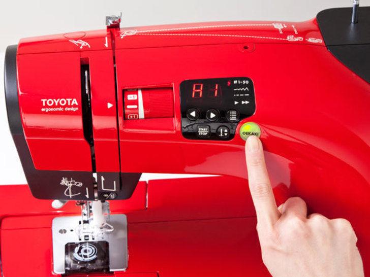 Toyota OEKAKI Renaissance - Computernähmaschine im Makerist Materialshop - Bild 4