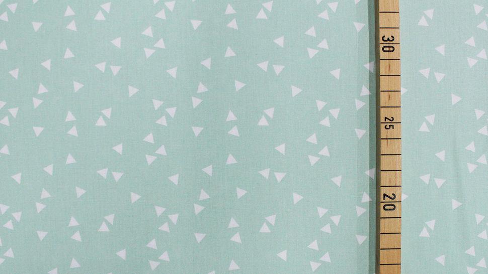 Baumwollstoff Dreieck mint: Triangle - 150 cm im Makerist Materialshop - Bild 2