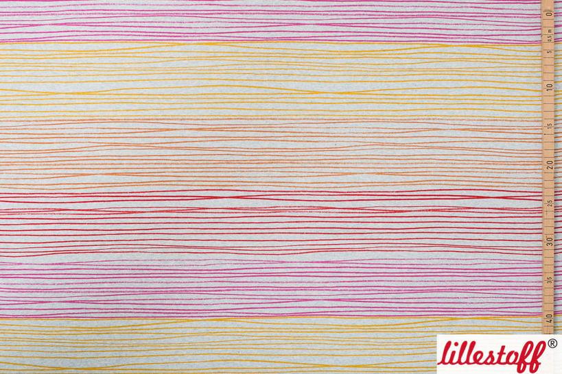 Rot-orange melierter Bio-Jersey lillestoff: Buntstiftstreifen - 150 cm im Makerist Materialshop - Bild 2