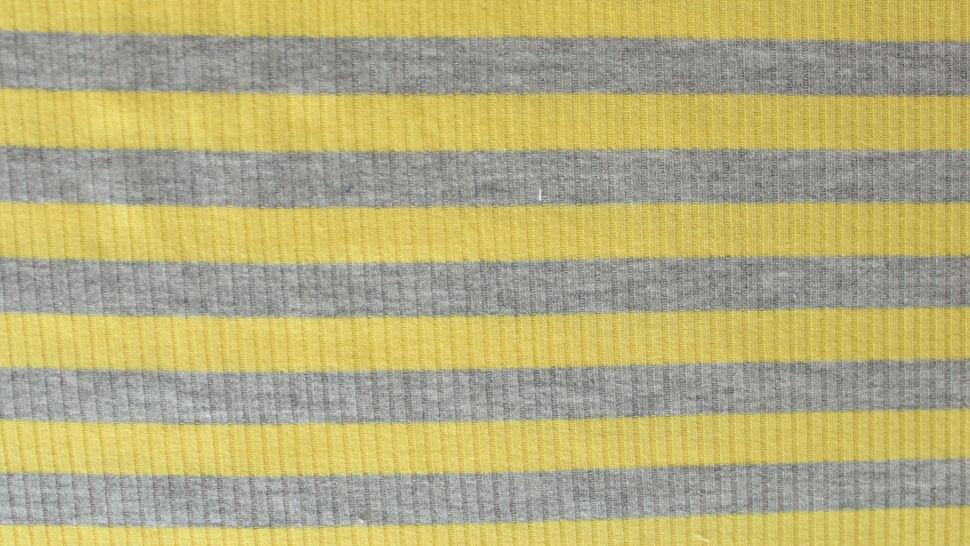 Gelb-grauer Ripp-Viskosjersey: Streifen - 145 cm im Makerist Materialshop - Bild 2