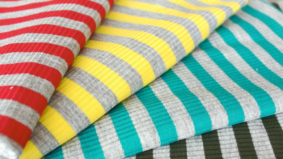 Gelb-grauer Ripp-Viskosjersey: Streifen - 145 cm im Makerist Materialshop - Bild 6