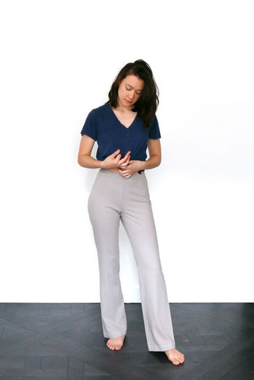 Relaxed jersey pants Leo, yoga pants, pyjama pants - XS-S / US size 4-6 / UK 6-8 - sewing pattern A4 + US letter