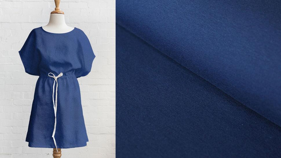 Tissu en sweat bleu foncé : Eike 155 cm dans la mercerie Makerist - Image 3