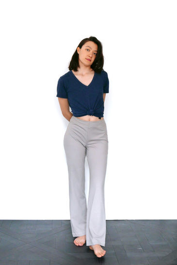 Relaxed jersey pants Leo, yoga pants, pyjama pants - S-M / US size 6-8 / UK 8-10 - sewing pattern A4 + US letter
