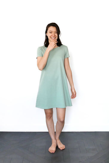 Aria Tshirt dress - M-L / US size 8-10 / UK 10-12 - sewing pattern A4 + US letter