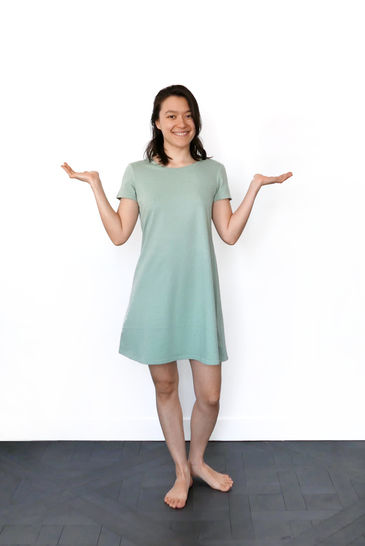 Aria Tshirt dress - XS-S / US size 4-6 / UK 6-8 - sewing pattern A4 + US letter