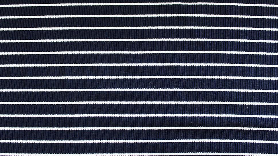 Navy-weißer Cotelé Jersey: Streifen - 145 cm im Makerist Materialshop - Bild 2