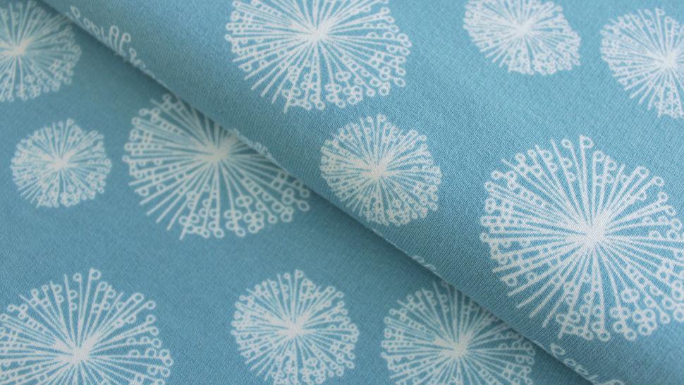 Sweatstoff rauchblau: Avalana Pusteblumen - 160 cm im Makerist Materialshop - Bild 2