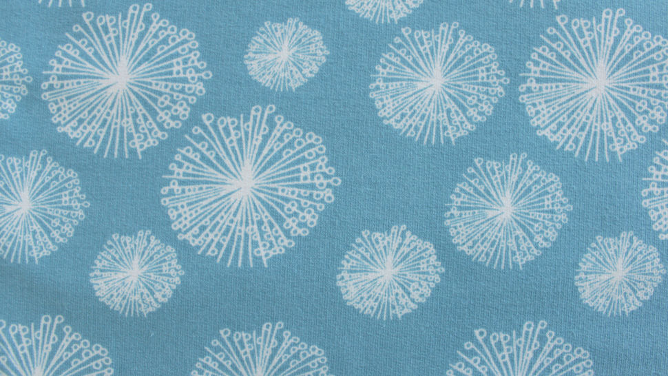 Sweatstoff rauchblau: Avalana Pusteblumen - 160 cm im Makerist Materialshop - Bild 3