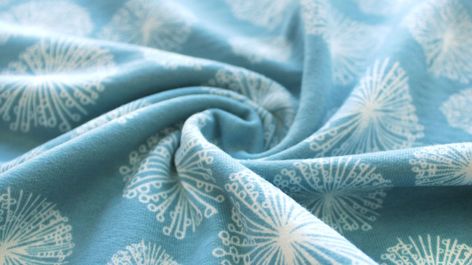 Sweatstoff rauchblau: Avalana Pusteblumen - 160 cm im Makerist Materialshop - Bild 5