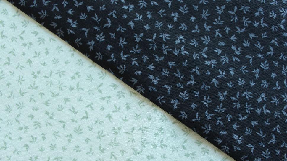 Schwarzer Baumwollstoff: Kleine Blätter - 112 cm im Makerist Materialshop - Bild 5