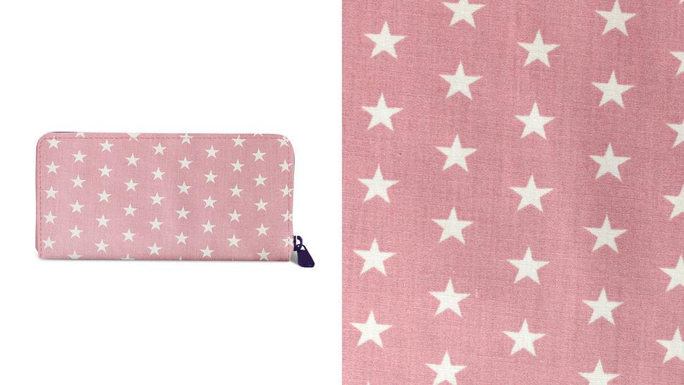Baumwollstoff altrosa-weiß bedruckt: Stars - 150 cm im Makerist Materialshop - Bild 7