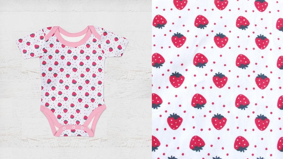 Jersey coton imprimé fraises sur fond blanc Avalana - 162 cm dans la mercerie Makerist - Image 6