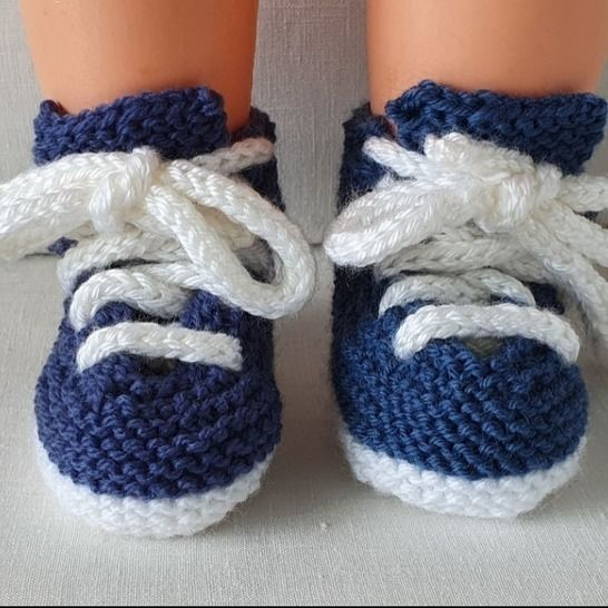 Babies 8ply lace up sneakers - knitting pattern - Michaela at Makerist - Image 1
