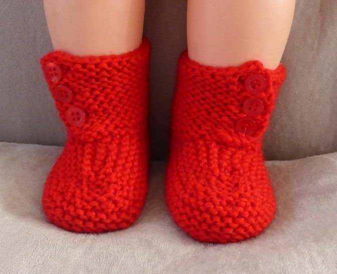 Front buttoning boots for baby in 8ply yarn - Sonia at Makerist - Image 1