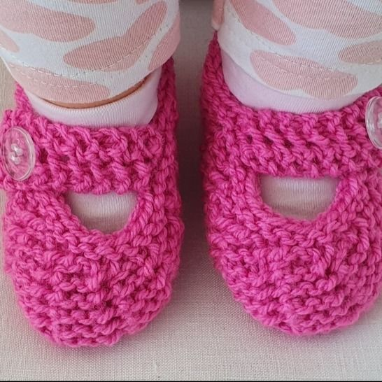 Baby shoes in garter stitch and easy lace stitch - Tamika at Makerist - Image 1
