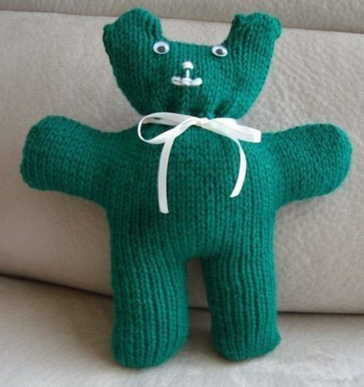 12ply easy knit Teddy Bear - PDF knitting pattern- Tommy at Makerist - Image 1