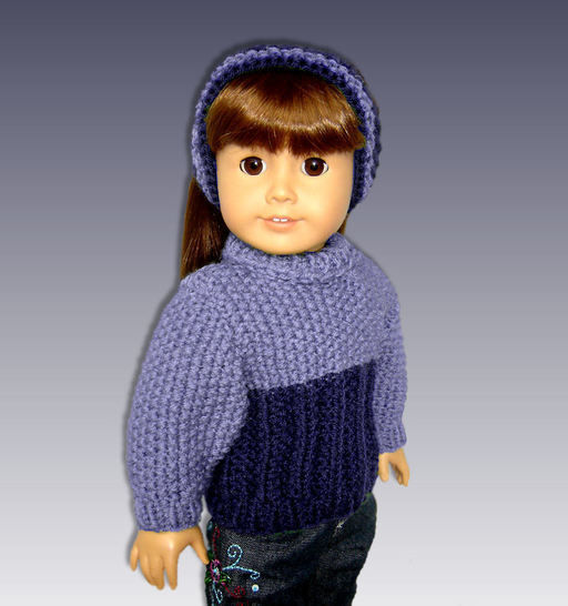 Seed Stitch Doll Sweater. Fits 18 inch dolls. at Makerist - Image 1