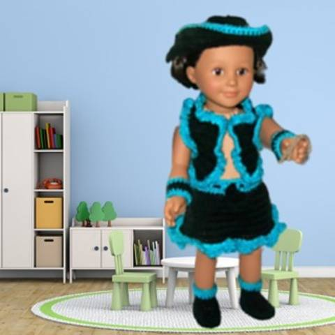 """18"""" doll clothes cowgirl outfit"""