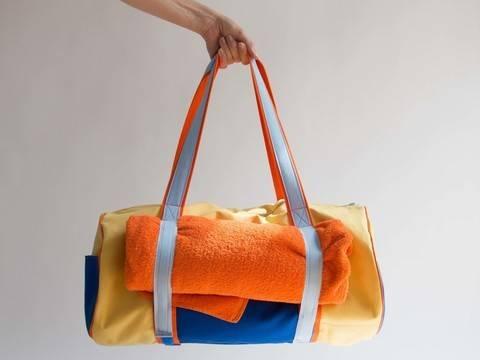 Yoga Strand Tasche mit Klettverschluss