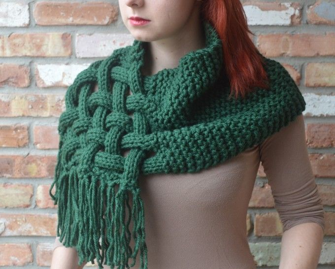 Knit woven scarf - Detailed knitting pattern at Makerist - Image 1