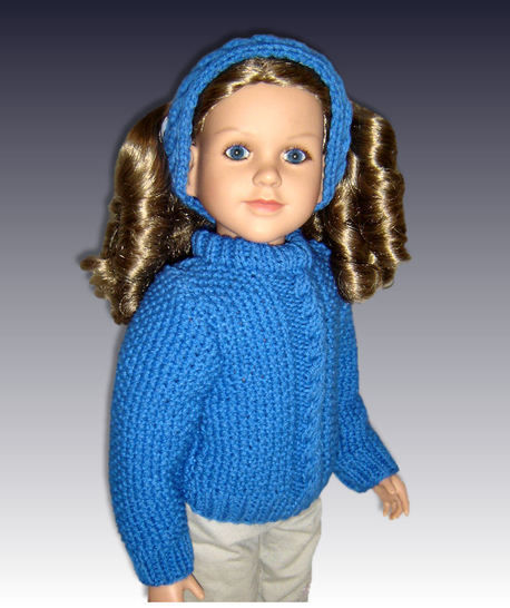 "Cable Pullover Sweater, fits 23"" dolls. at Makerist - Image 1"