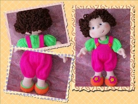 Matilda Dolly - Basic doll with knitted clothes