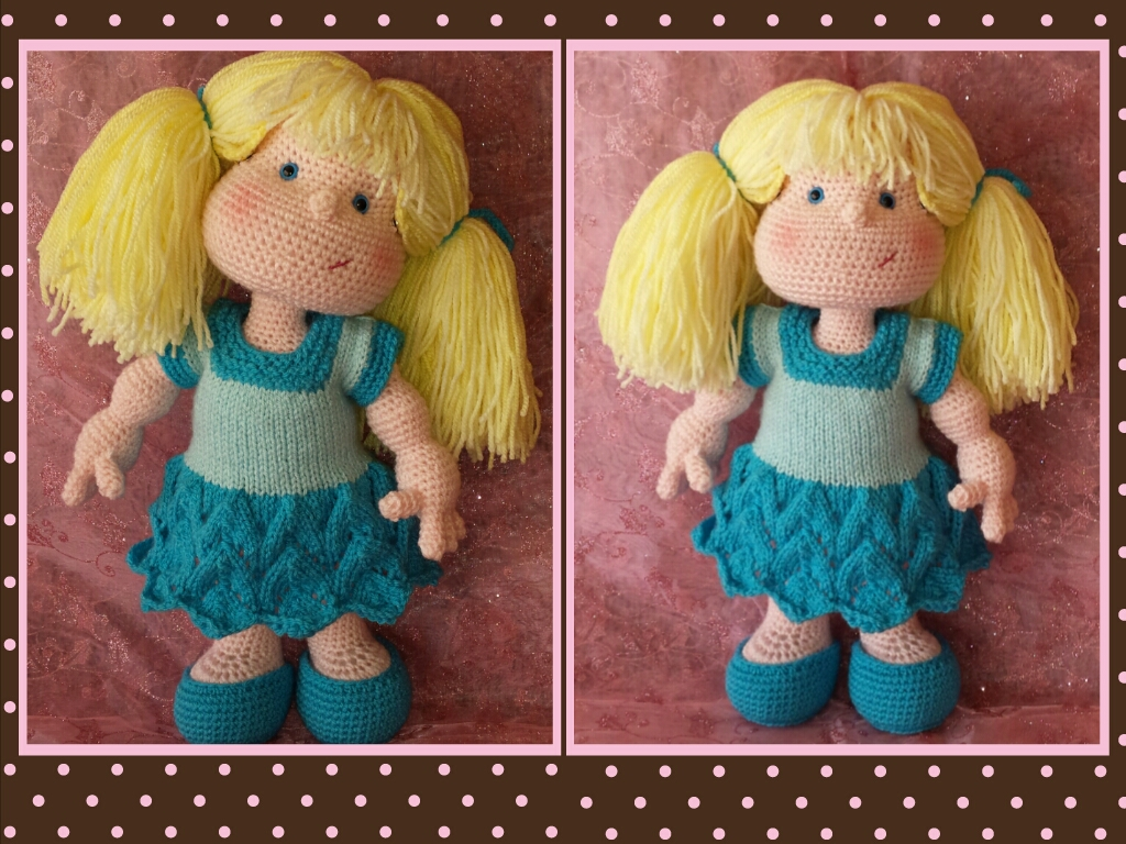 Matilda Dolly - Pattern for wig and clothes only