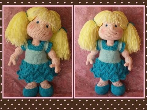 Matilda Dolly - Pattern for wig and clothes only at Makerist